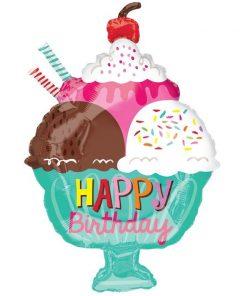 Happy Birthday Icecream Cup Balloon (B47)