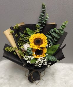 Sunflowers and Baby Breath Graduation Bouquet (S27)