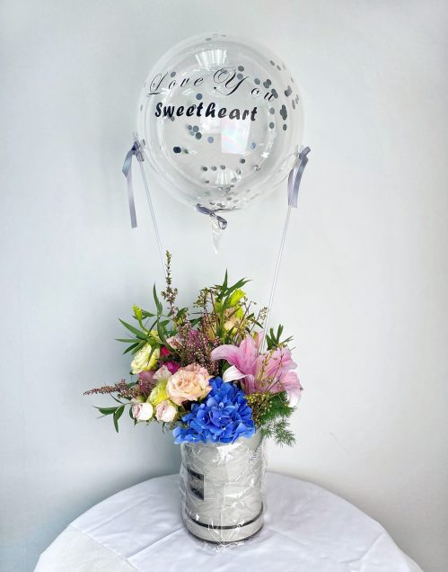 Hot Air Balloon Premium Freestyle Floral Box