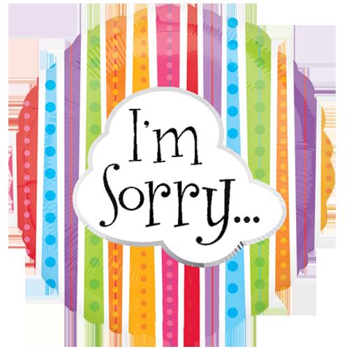 I'm Sorry Balloon (B39)