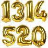Jumbo Gold Number Balloons (1 metre tall) (B03)