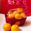 Mandarin Orange Hamper Basket 8 Oranges