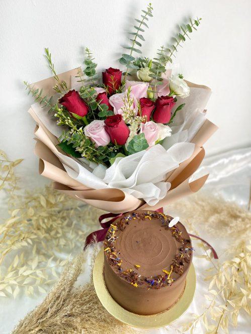 Cake & Flower Bundle