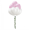 Nature Wrapped Balloon bouquet 7