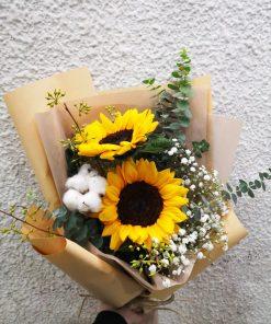 2 Sunflowers Graduation Bouquet (S26)