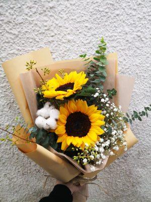 Two Sunflowers Graduation Bouquet