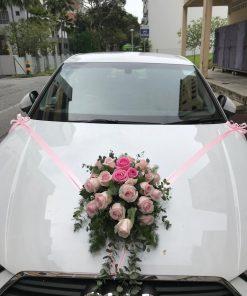 Bridal Car Decorations Door Handle Ribbons (FROM $160 ONWARDS) (WED09)