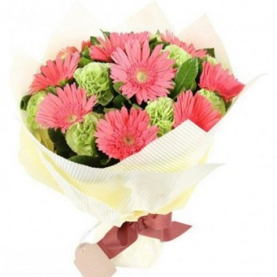 gerberas and carnations bouquet g06