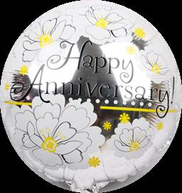 Happy Anniversary Balloon FLEUR (B58)