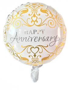 Happy Anniversary Balloon GOLD (B57)