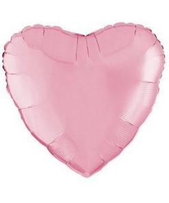 pink heart foil ballon