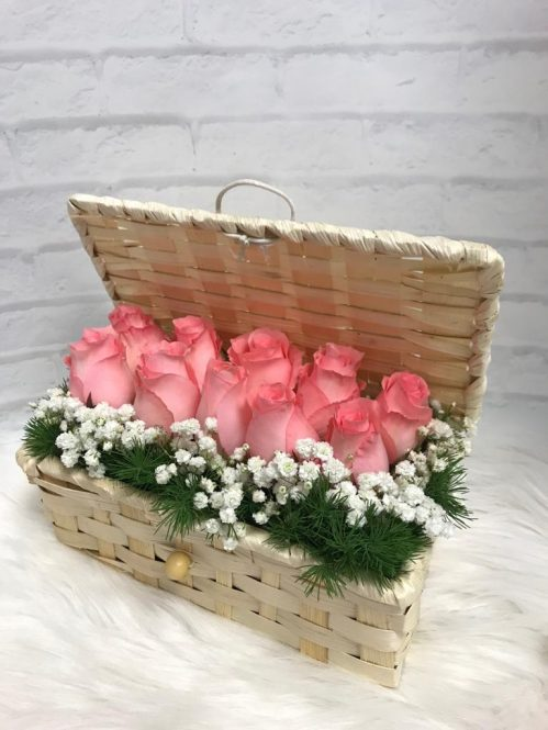 Pink Roses in a Box (R103)