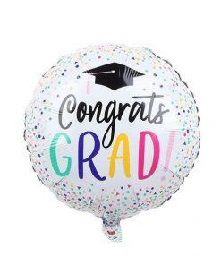 Rainbow Confetti Graduation Balloon (B53)