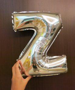 Silver Alphabet Balloons (16in) (B01)
