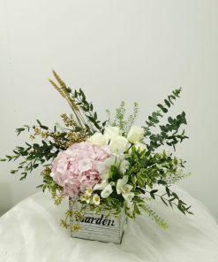 Hydrangea Flowers in Box