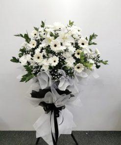 Modern Condolence Flower Tripod Stand | Single Tier Metal Stand