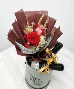 Petite Wine Floral Box